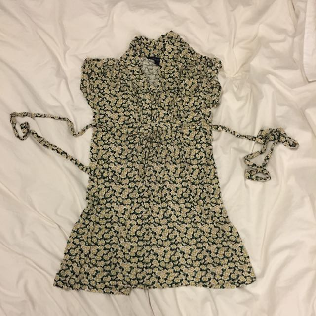 French Connection Tie Up Sun Dress