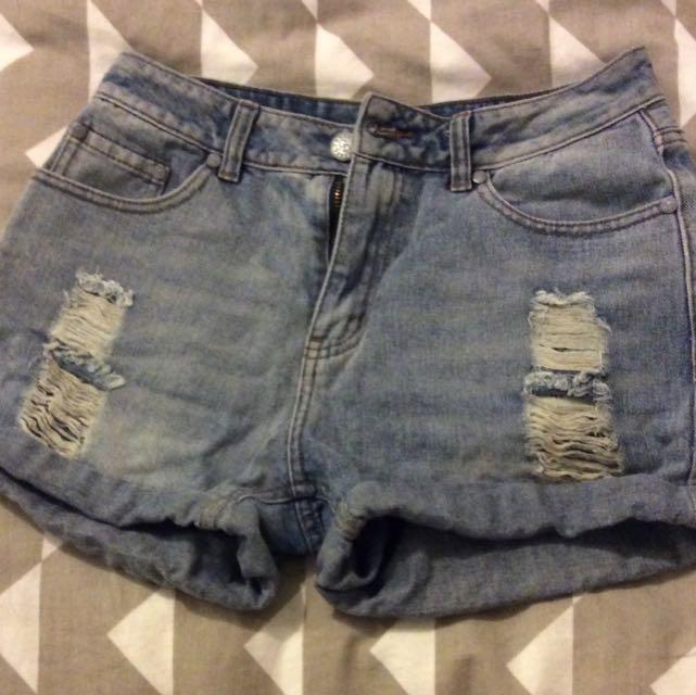 Ghanda denim shorts