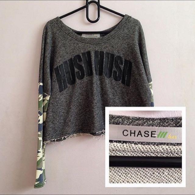 Gray Crop Sweater