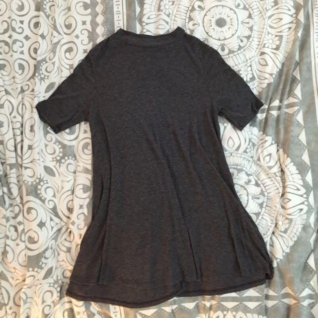 Grey Tee-shirt dress