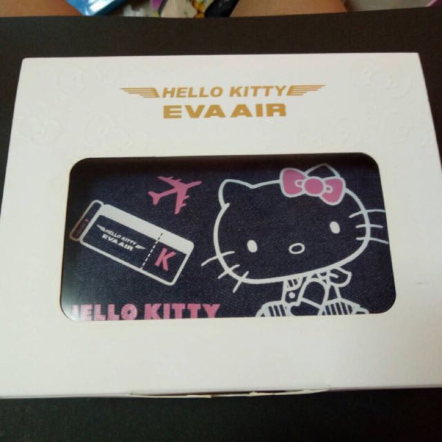 Hello Kitty 長榮航空 多功能牛仔手提包