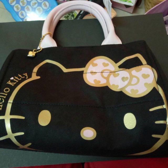 Hello Kitty 黑色 手提袋 購物袋