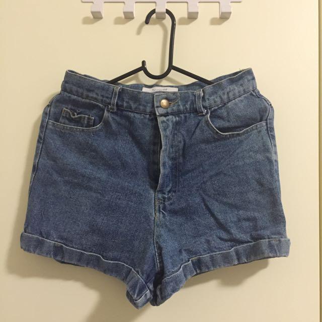 high waist short jean