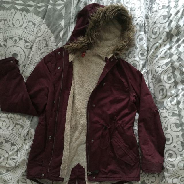 H&M Burgundy Fall Jacket