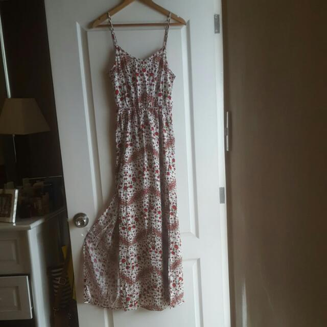#H&M Long Flower Dress Size S