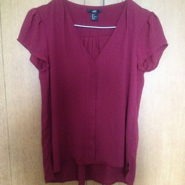 H&M Maroon Blouse