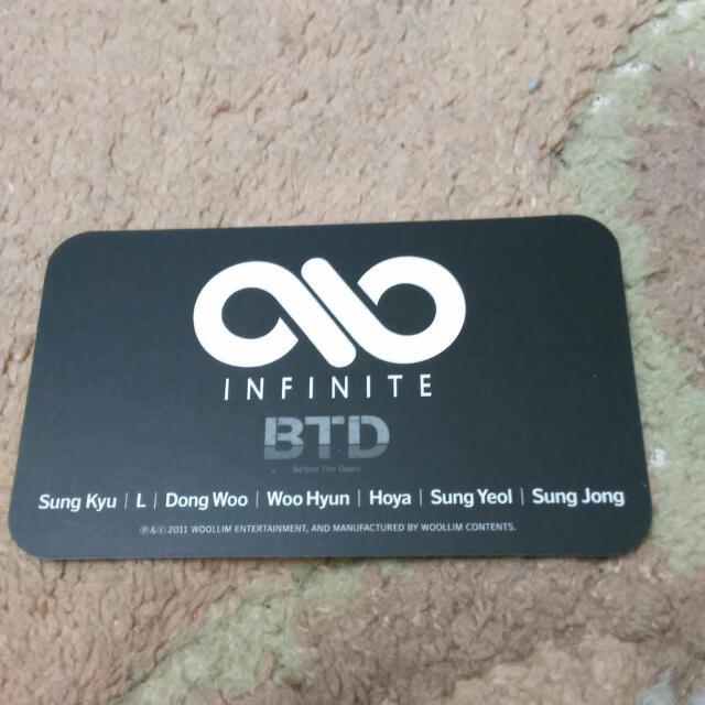 Infinite DongWoo Official Photocard -BTD (Japan)