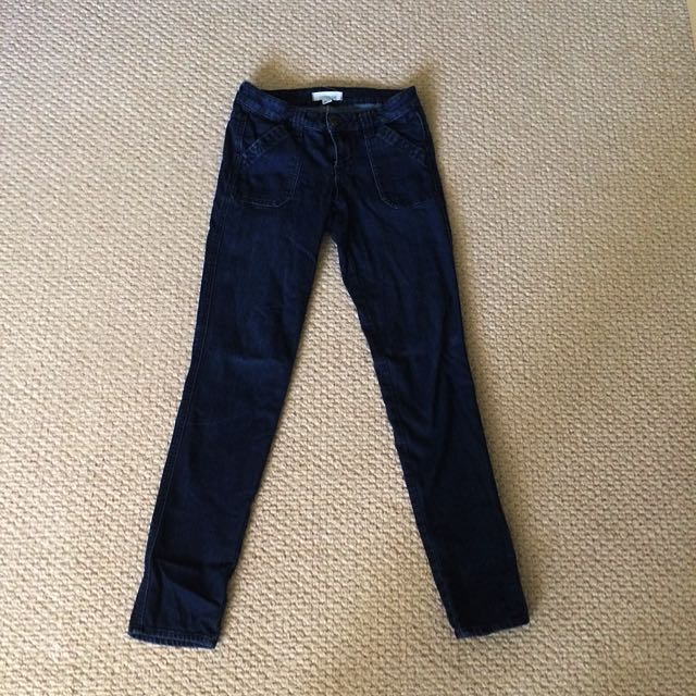 Mid Waist Jeans, Fits As A Size S-M