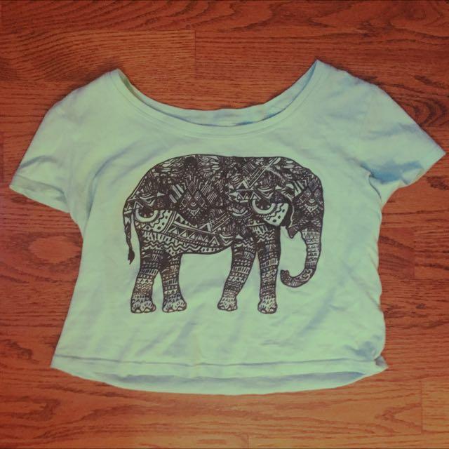 Elephant Crop Top