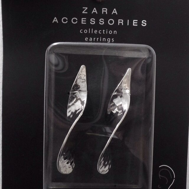 Silver Twirl Earings Zara
