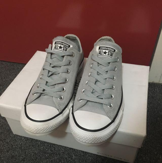 Suede Grey Converse Size 7