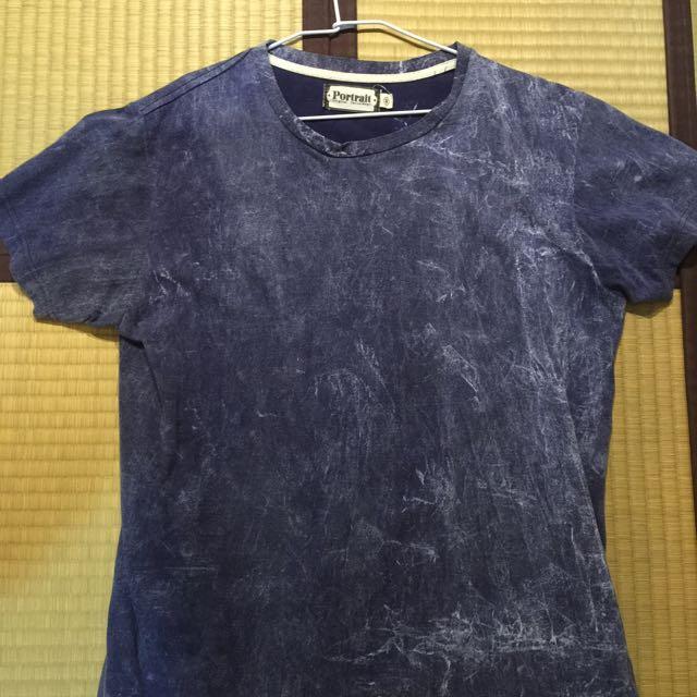 韓版漸層藍色t Shirt