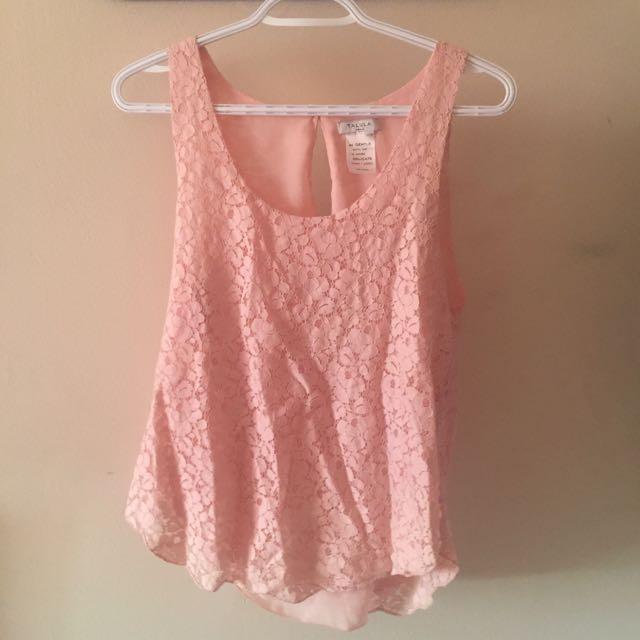 Talula Pink Lace Top