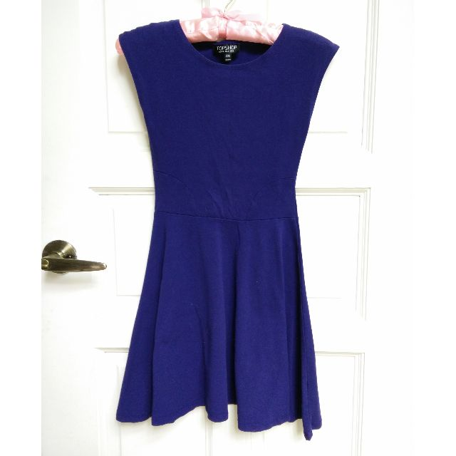 Topshop Indigo Skater Dress XS