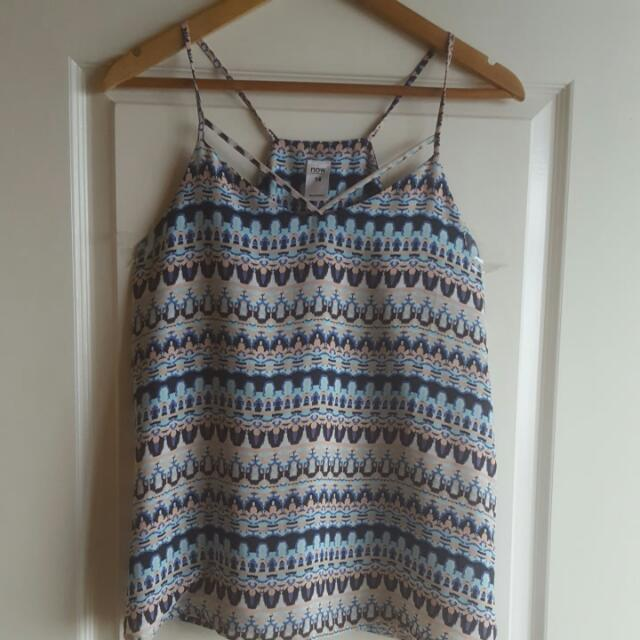 Tribal Strappy Top Size M