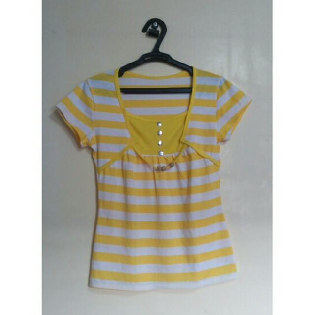 Yellow Stripe Top
