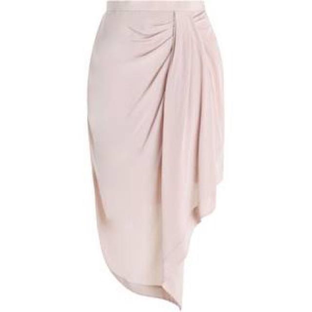 Zimmermann Silk Drape Skirt in Sunstone, Size 0 (AU 8)