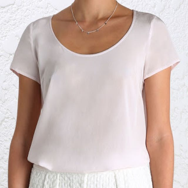 Zimmermann Silk Swing T in Blush, Size 0 (AU 8)