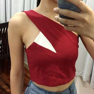 [FREE POST] Red Crop Top