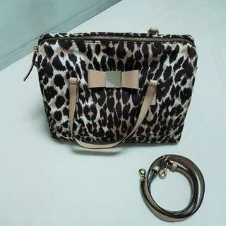 PRE-LOVED AUTHENTIC KATE SPADE LEOPARD PRINT BAG
