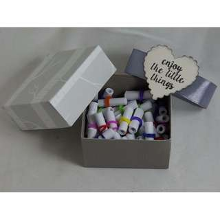 52 Inspirational Quotes - Miniature Scrolls - Grey