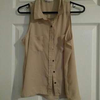 Beige Button Up
