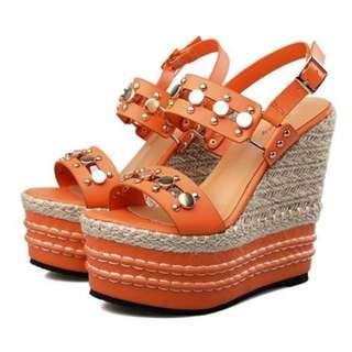 【預購品】MLC288 露趾楔型鞋 www.facebook.com/Russia.BC
