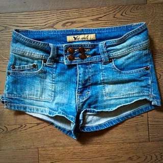 Denim Short-Shorts By Wet Seal