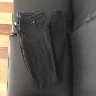 Ally Black Wash Fade Jeans Size 12