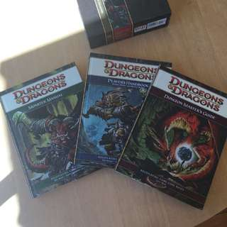 Dungeons And Dragons Rule book Collection