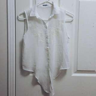 Garage Sheer Collar Shirt