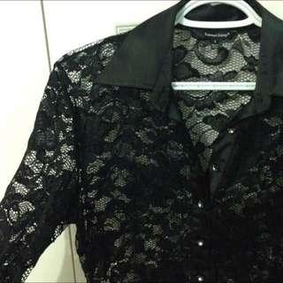 Black lace long sleeve