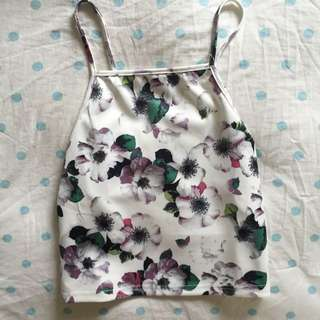 Valleygirl Floral Halter Top