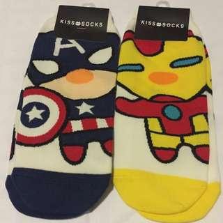 Captain America And Iron Man Socks