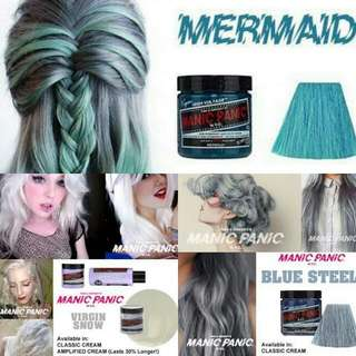 READY HAIR COLOURS MANIC PANIC  CLASIC ORI 100% FROM N.Y.C