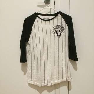 Black And White Stripe Shirt