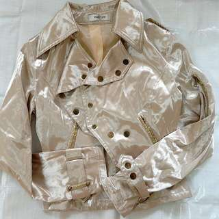 亮金銅風衣外套(稍厚)