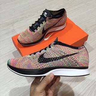 Nike Flyknit Racer Rainbow 彩虹