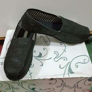 黑色亮片懶人鞋 23