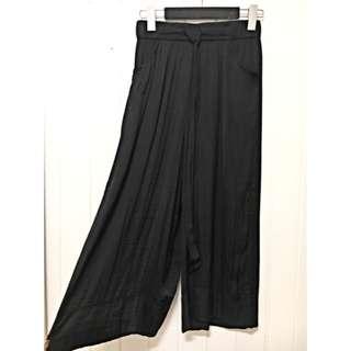 Zara Silky Charcoal/ Black Culottes