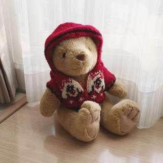 🚚 針織連帽毛衣泰迪熊