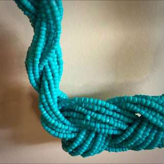 Colette Chunky Blue Beaded Necklace