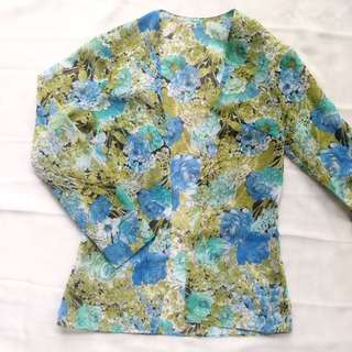 FLORAL BLUE OUTER