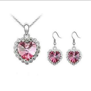 Heart Of The Ocean Titanic Necklace and Earrings sets