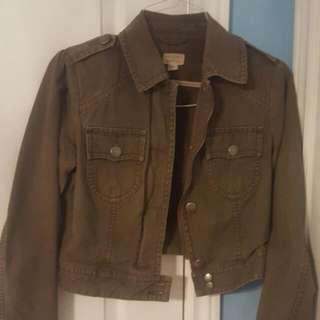 American Eagle Army Green Denim Jacket