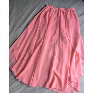 [RESERVED until 31 Jul 2016] Cache Cache Flowy Sheer Skirt in Pink