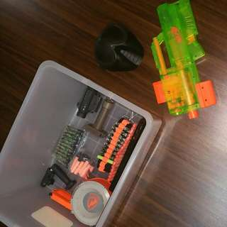 Nerf Set With lots Of Accessories