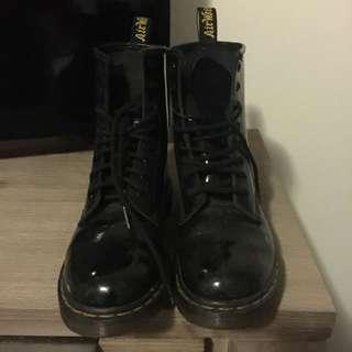Shiny Leather Doc Martens