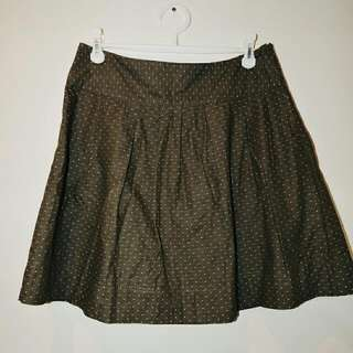 Princess Highway (Dangerfield) Khaki Dotted Skirt || 16
