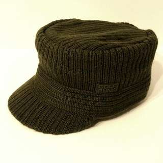 Knitted Hat/winter Hat Olive Green